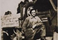 Wyjazd z produkcją z cegielni w Zebrzydowie 1957r samochód wojenny amerykański GMC